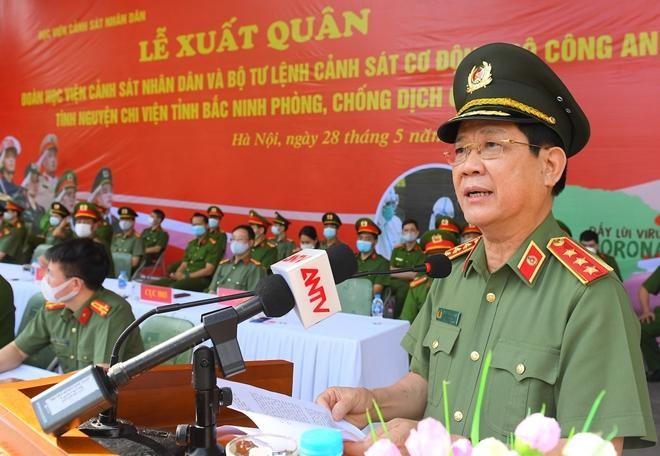 Cảnh sát cơ động và sinh viên Học viện Cảnh sát tiếp tục chi viện Bắc Ninh ảnh 1