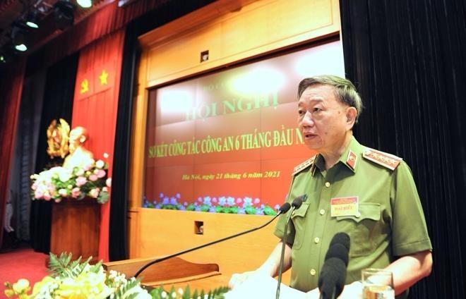 Chủ tịch nước Nguyễn Xuân Phúc dự hội nghị sơ kết công tác Công an 6 tháng đầu năm ảnh 2