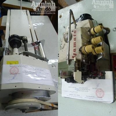 ...và hàng chục máy móc dùng để gia công quần áo.