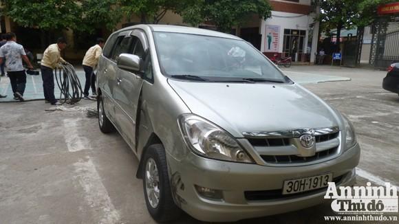 Chiếc xe Inova liên quan đến vụ án