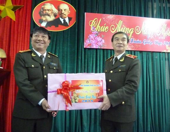 Lãnh đạo CATP Hà Nội chúc tết các đơn vị ảnh 4