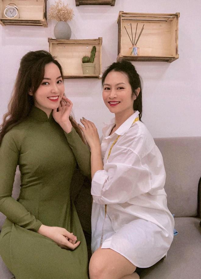 Vũ Thu Trang thiết kế 100 chiếc áo dài cho Á hậu Thụy Vân ảnh 1