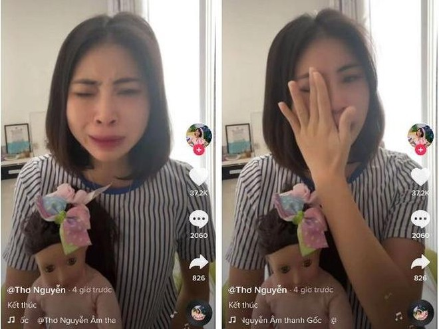 """Thơ Nguyễn đăng tải video khóc lóc xin thanh minh về clip """"xin vía búp bê học giỏi"""""""