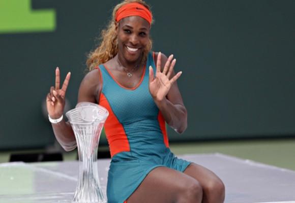Serena Williams phấn khích với kỷ lục 7 lần vô địch Miami ảnh 1