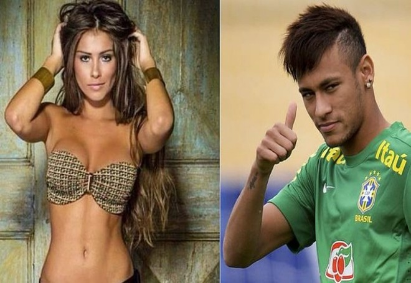 """Neymar ra mắt bạn gái """"bốc lửa"""" Gabriella Lenzi ở Barca ảnh 1"""