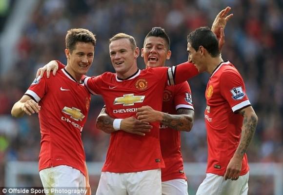 Herrera là tác giả bàn thắng thứ 2 cho Quỷ đỏ Clip đội chủ nhà nhân đôi cách biệt Rooney cũng có bàn thắng cho riêng mình Pha dứt điểm hiểm hóc nâng tỷ số lên 3-0 của R10
