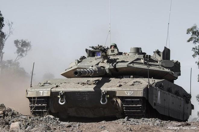"""[Info] """"Lô cốt thép di động"""" Merkava-Mk4 Israel pháo kích dữ dội vào Dải Gaza ảnh 1"""