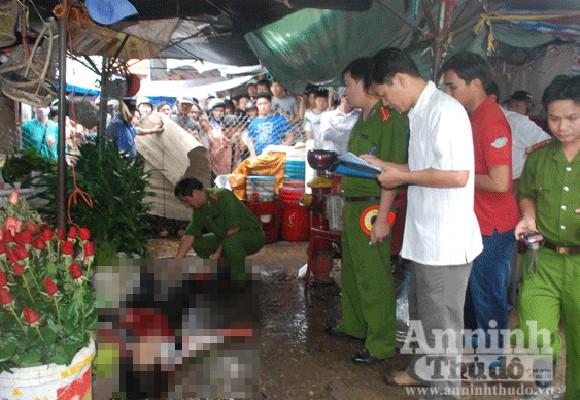 Một thanh niên bị truy sát giữa chợ ảnh 1