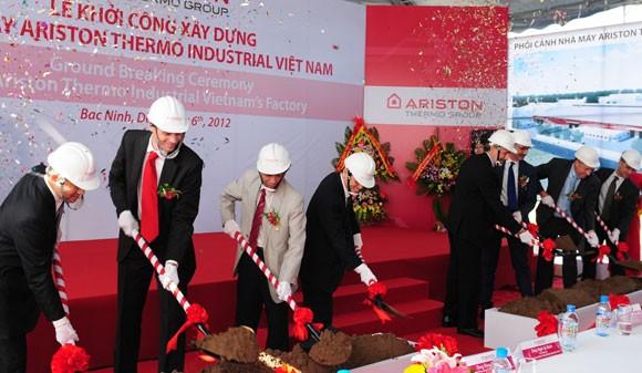 Ariston Thermo khởi công nhà máy lớn tại Bắc Ninh ảnh 1