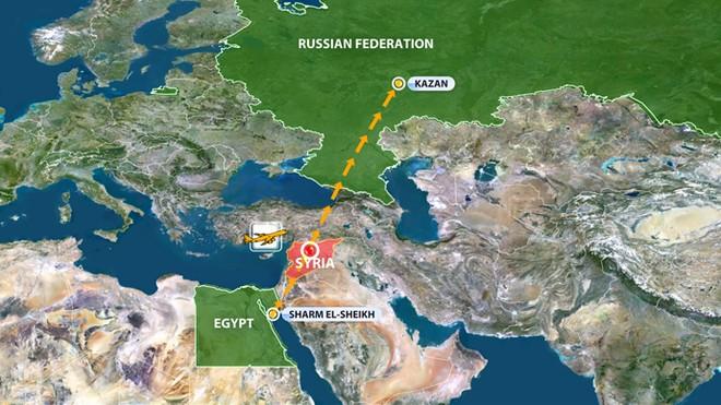 1 máy bay chở khách Nga bị bắn trên bầu trời Syria ảnh 1