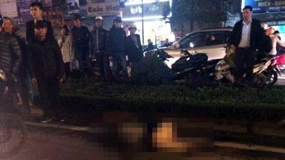 Hà Nội: Sang đường, cô gái bị ô tô đâm trọng thương ảnh 1