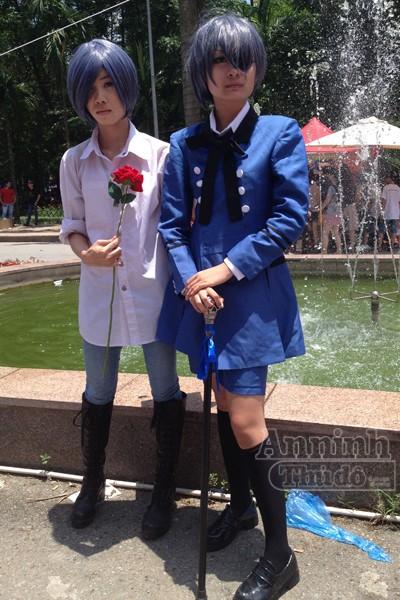 Nóng 40°C, giới trẻ Hà Nội vẫn váy áo lòa xòa, hào hứng Cosplay ảnh 4