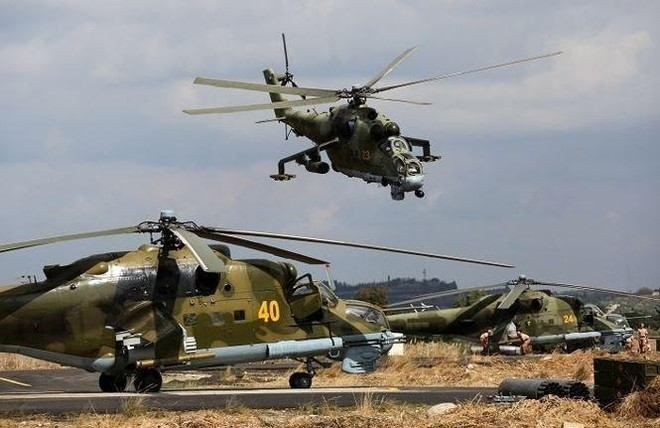 Trực thăng Nga tiếp tục truy quét IS ở miền Trung Syria ảnh 1