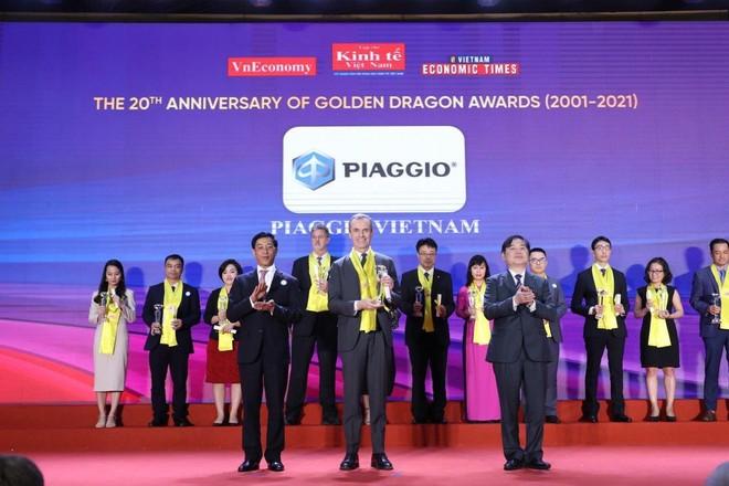 Piaggio Việt Nam được vinh danh Top 50 Doanh nghiệp FDI tại Giải thưởng Rồng Vàng lần thứ 20 ảnh 1