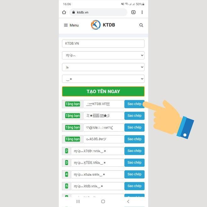 KTDB.VN - ứng dụng tạo kí tự đặc biệt dành cho game thủ ảnh 2
