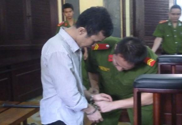 Bị cáo Lê Quang Sang tại tòa