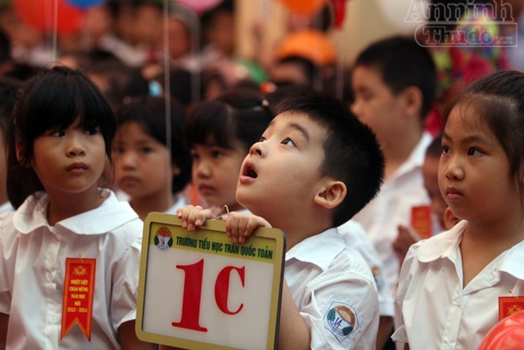 Trẻ ngộ nghĩnh trong ngày khai trường ảnh 5