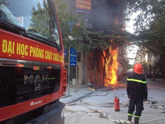 Cháy đùng đùng trên cột điện, lan sang nhà dân ảnh 1