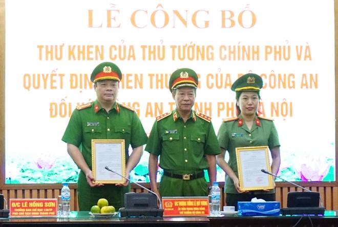 Thủ tướng Chính phủ và Bộ Công an khen thưởng chiến công xuất sắc của Công an Hà Nội ảnh 3