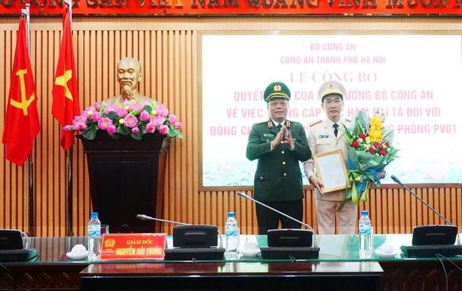Trưởng phòng Tham mưu CATP Hà Nội được thăng cấp bậc hàm Đại tá ảnh 1