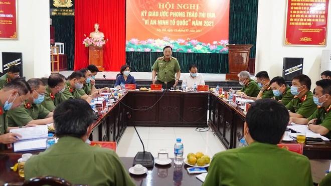 Giám đốc Công an Hà Nội kiểm tra công tác bảo vệ bầu cử đại biểu Quốc hội khóa XV và đại biểu HĐND các cấp ảnh 1