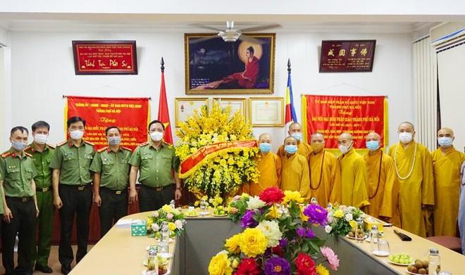 Giám đốc CATP Hà Nội chúc mừng Lễ Phật đản 2021 ảnh 3