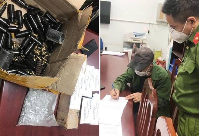 Phát hiện số lượng lớn linh kiện lắp ráp súng tự chế trong bưu kiện ảnh 1