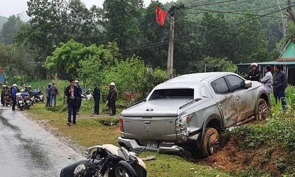 Người đàn ông tử vong sau khi va chạm với xe bán tải ảnh 1
