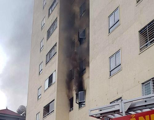 Cháy ở chung cư 20 tầng TP Vinh ảnh 1