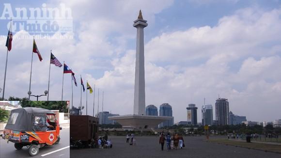 """""""Cưỡi"""" Bajai xem Jakarta ảnh 1"""