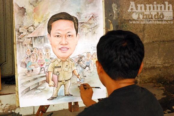 """""""Pelukis portet - truyền thần của người dân Indonesia"""" ảnh 5"""
