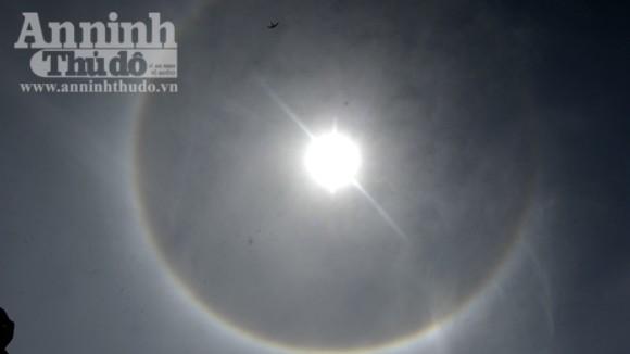 Hiện tượng quầng mặt trời xuất hiện ở Điện Biên ảnh 1
