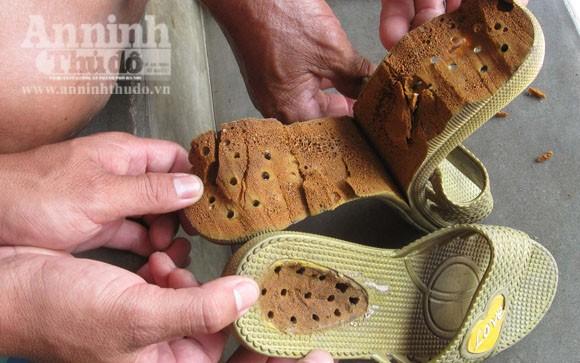 Phát hiện dép nhãn hiệu Trung Quốc gây ngứa, nhức chân ảnh 1