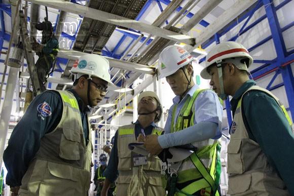Khoảnh khắc trên công trường Nhà máy nhiệt điện Mông Dương 1 ảnh 3