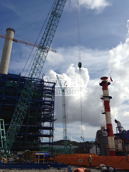 Khoảnh khắc trên công trường Nhà máy nhiệt điện Mông Dương 1 ảnh 1