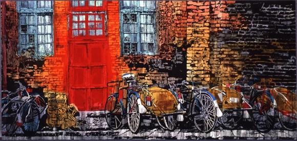 Hồn cốt Việt Nam trong tranh nhuộm màu Katazome ảnh 5