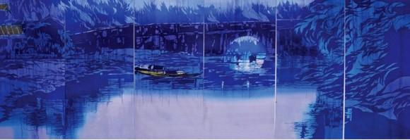 Hồn cốt Việt Nam trong tranh nhuộm màu Katazome ảnh 6