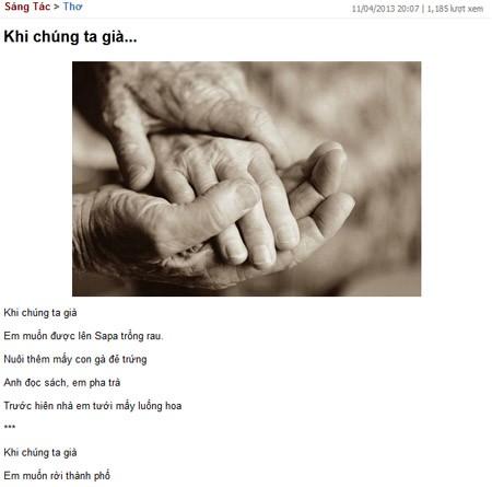 """Hồng Phước bị """"ném đá"""" vì """"lén"""" phổ nhạc bài thơ """"Khi chúng ta già"""" ảnh 2"""