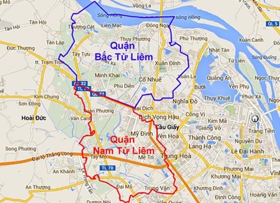 Hai quận Nam - Bắc Từ Liêm ra mắt từ 1-4-2014 ảnh 1