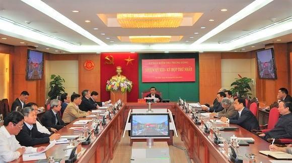 Ủy ban Kiểm tra Trung ương khóa XIII họp phiên đầu tiên, bầu các đồng chí Phó Chủ nhiệm ảnh 1