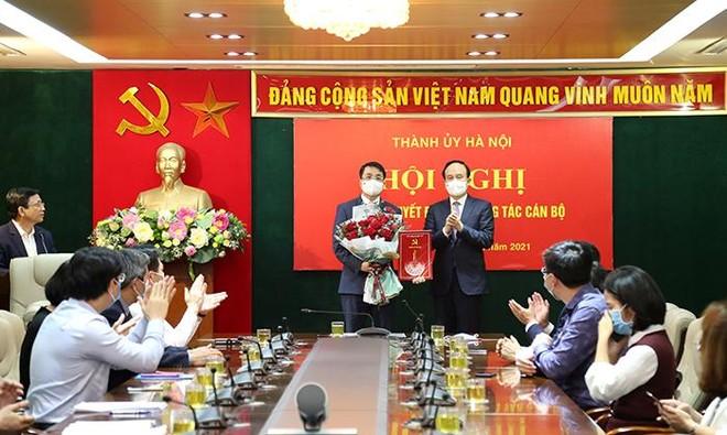 Ông Nguyễn Doãn Hoàn làm Bí thư Phúc Thọ, ông Lê Minh Đức giữ chức Bí thư Đảng ủy Khối cơ quan Hà Nội ảnh 1