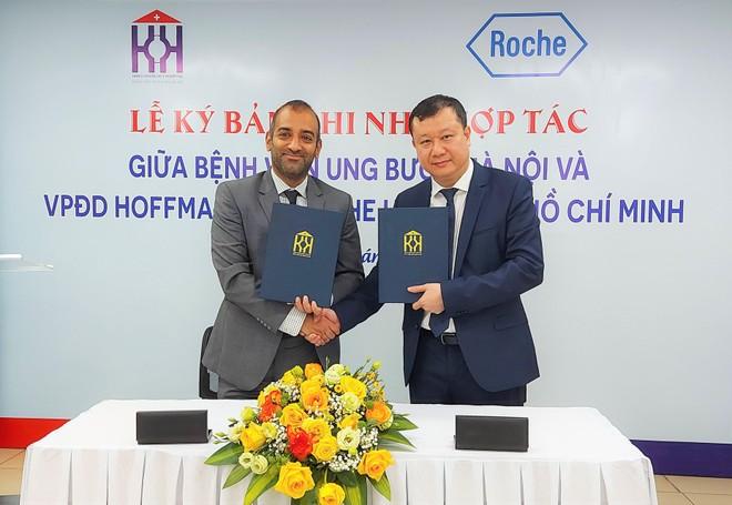 Bệnh viện Ung bướu Hà Nội bắt tay Roche Việt Nam nâng cao chất lượng điều trị ung thư ảnh 1