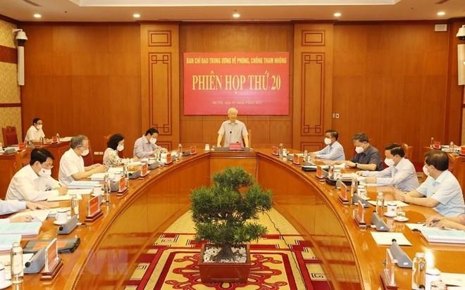 Tổng Bí thư Nguyễn Phú Trọng chủ trì họp Ban Chỉ đạo Trung ương về phòng, chống tham nhũng ảnh 1