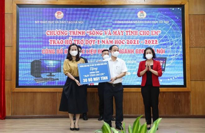 """Học sinh Hà Nội được hỗ trợ gần 4.000 máy tính trong chương trình """"Sóng và máy tính cho em"""" ảnh 2"""