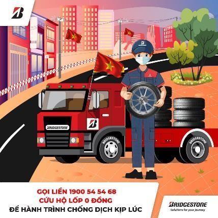Bridgestone hỗ trợ dịch vụ sửa xe miễn phí tại Hà Nội, TP.HCM ảnh 1