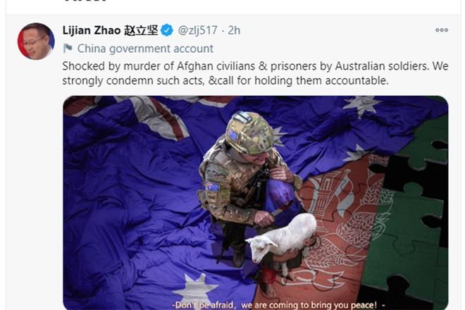 Thủ tướng Australia họp khẩn, đòi Trung Quốc xin lỗi vì bức ảnh thái quá ảnh 1