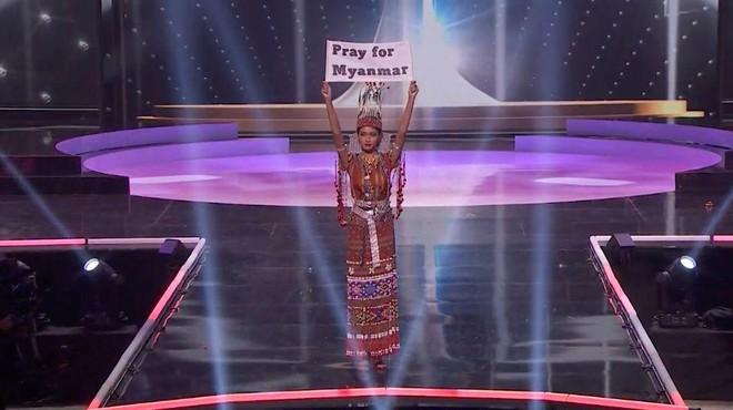 Hoa hậu Hoàn vũ Myanmar kêu gọi thế giới lên tiếng vì người dân nước này ảnh 1