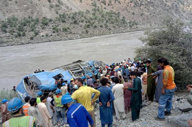 Nổ xe buýt chở nhiều công nhân Trung Quốc ở Pakistan ảnh 1