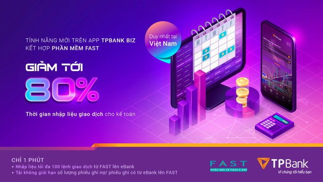 Ra mắt tính năng chuyển tiền siêu tốc kết hợp giữa eBank Biz của TPBank và phần mềm kế toán FAST ảnh 1