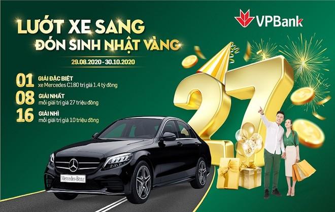 Trúng ngay ô tô Mercedes khi tham gia đại tiệc sinh nhật 27 tuổi của VPBank ảnh 1